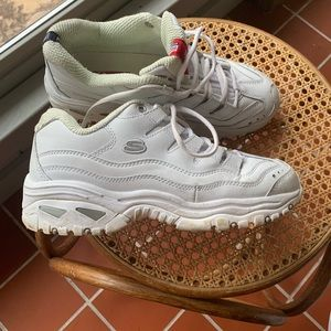 Skechers Sport white tennis shoes